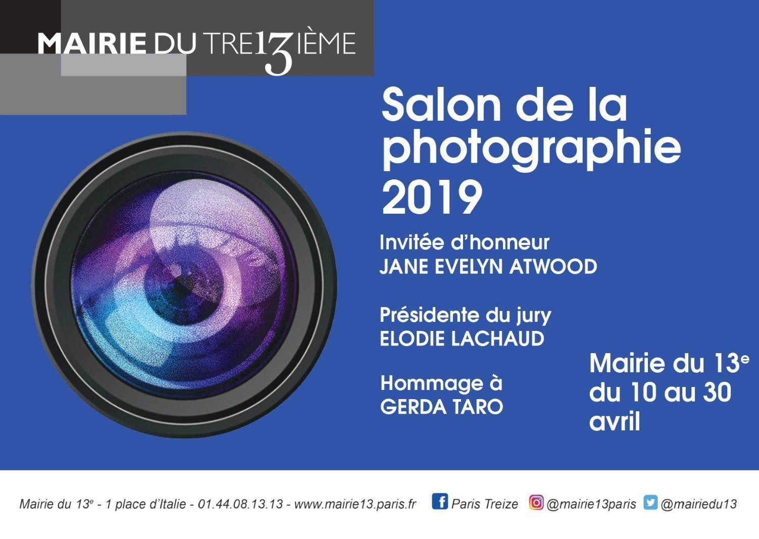 Salon de la photographie 2019 de la mairie de 13e arrondissement de Paris