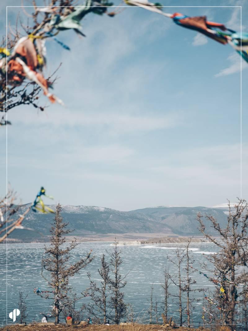 Vue sur le lac Baïkal depuis l'île d'Ogo!i ©️ Ilan Dehé