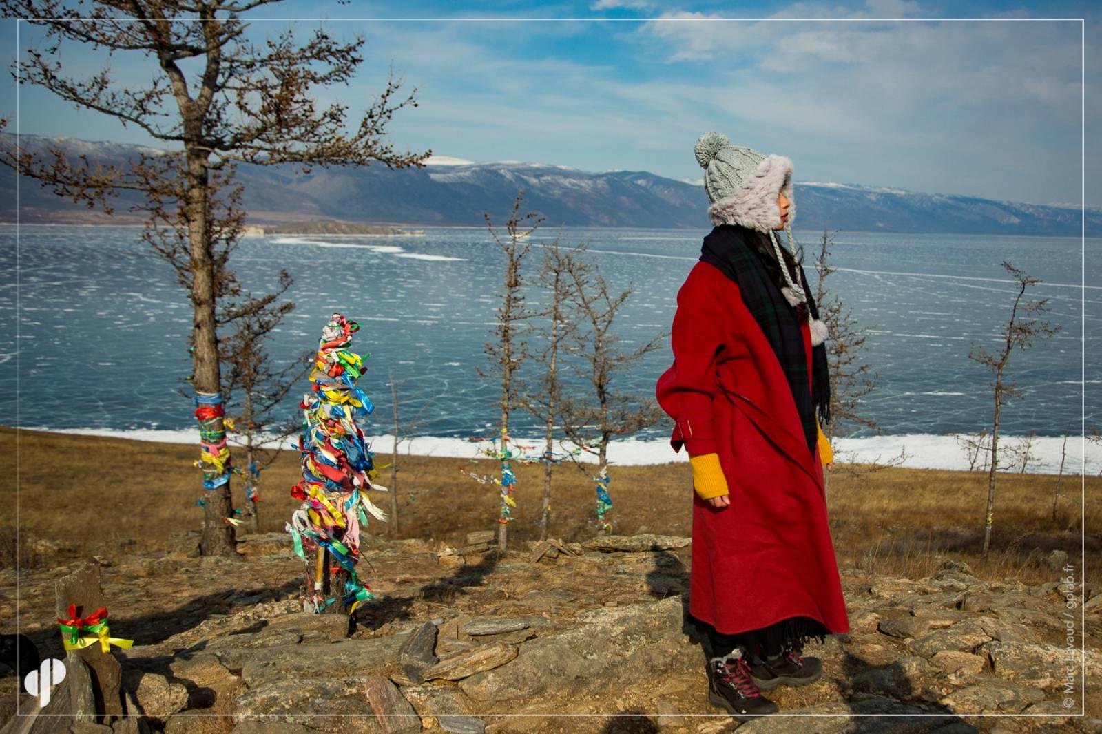 Vue sur le lac Baïkal depuis l'île d'Ogoï  ©️ Marc Lavaud