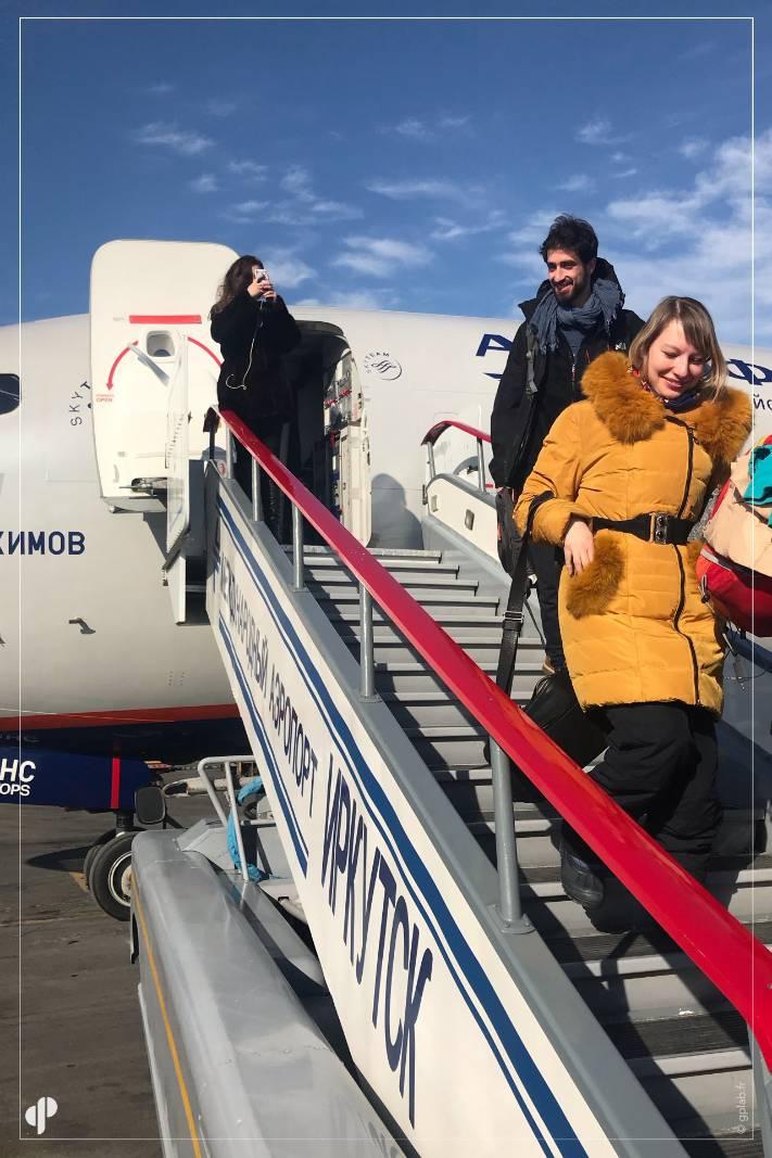 Arrivee a Irkoutsk