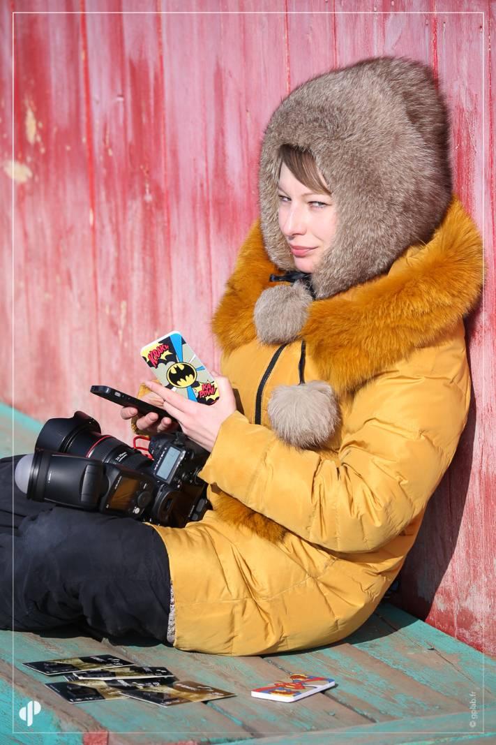 Natalya Saprunova photographe avec materiel Emtec