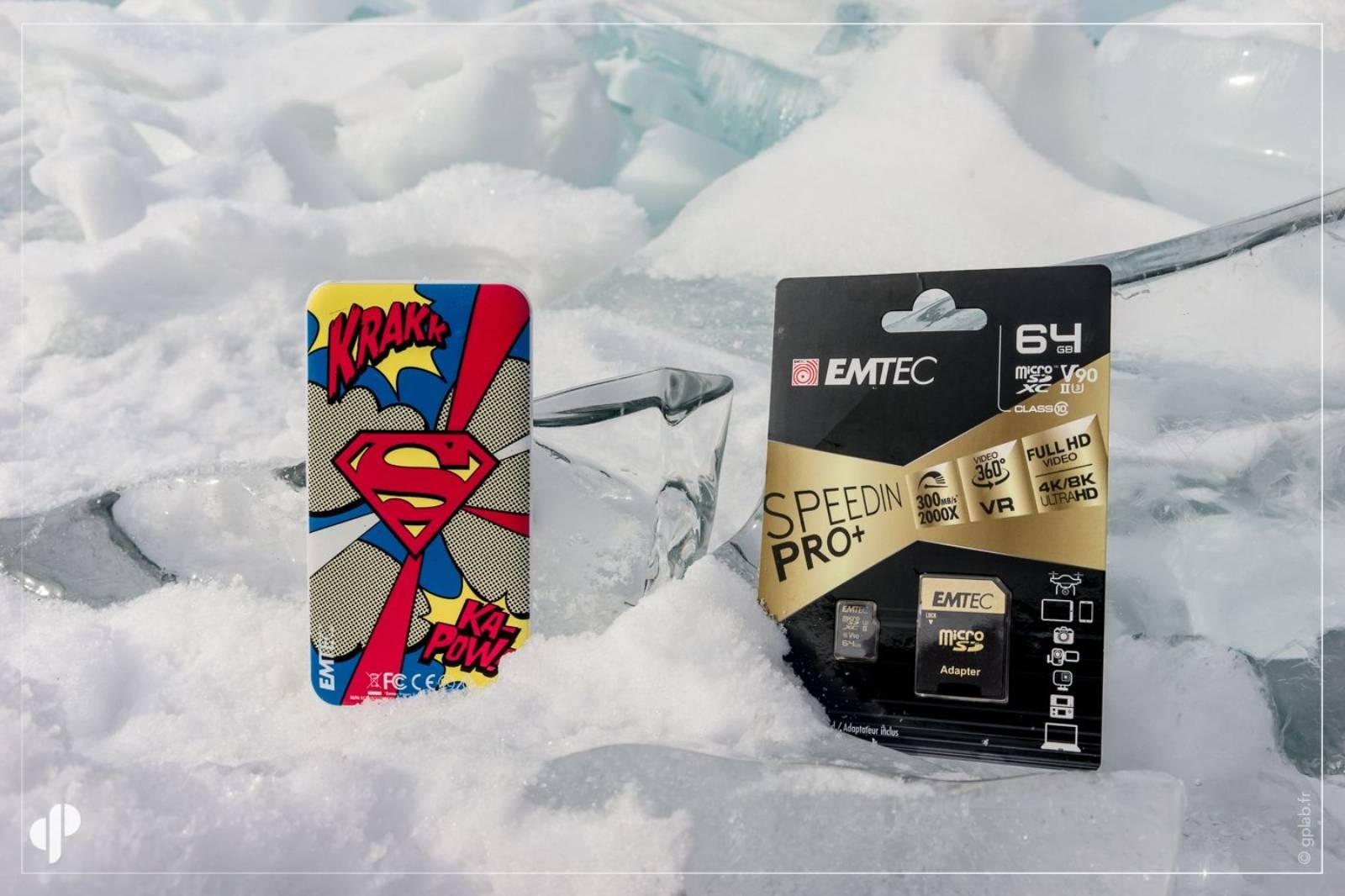 carte SD et batterie externe Emtec