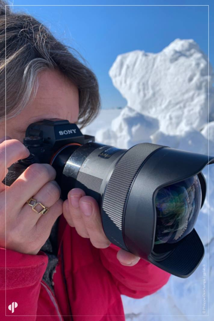 la photographe Myriam Tirler avec l'objectif 14mm F1.8 DG HSM de la série Art