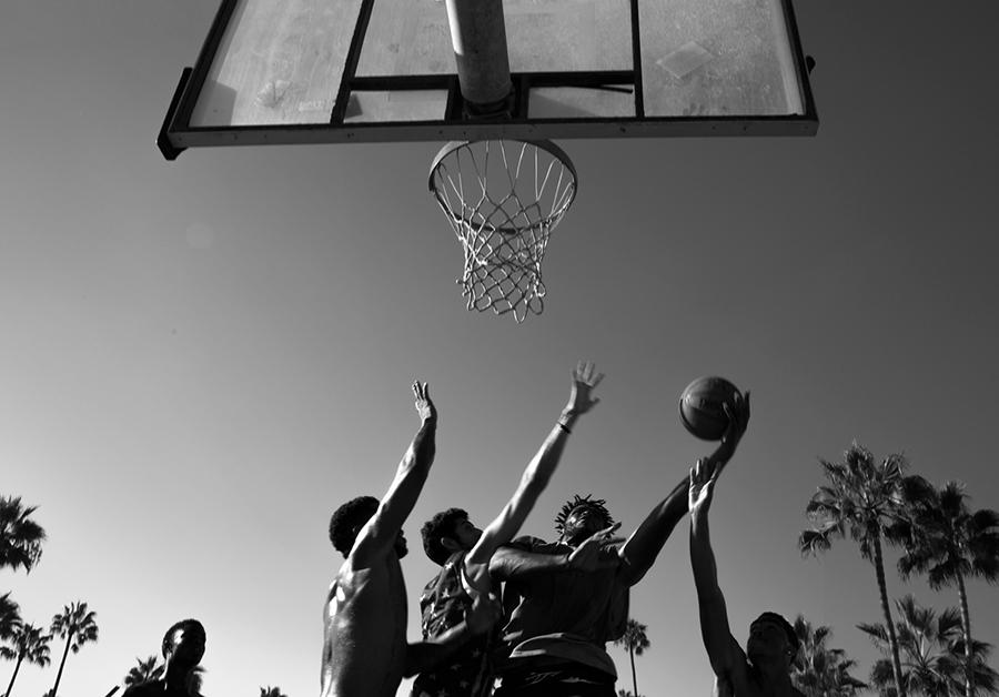 Avec les basketteurs de rue de Venice Beach